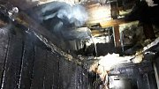 Požár chaty v Lipové-lázních.