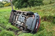 Nehoda mezi Olšany a Kláštercem na Šumpersku