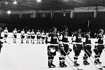 ČSSR B pro Švédsku B v Šumperku 8. září 1971. Zápas skončil 4:2.