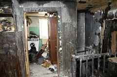 Dům v Zábřehu, kde došlo požárem k pokusu o vraždu dvou mužů