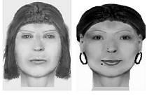 Vlevo je pravděpodobný portrét ženy, která přepadla řidiče autobusu v Bušíně, vpravo je portrét pachatelky, která okradla mladíka v Zábřehu