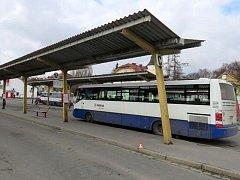 Nehoda na autobusovém nádraží v Šumperku