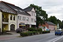 Postřelmov- centrum obce.
