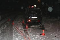 Řidič havaroval při cestě z Rejvízu.