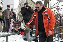 Welzlův běh do zámecké brány 14. ledna 2012