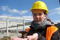 Archeologický průzkum na staveništi Tesca v Mohelnici v tomto týdnu končí.