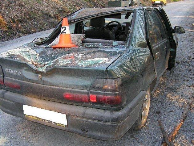 Auto poté, co na něj spadl strom