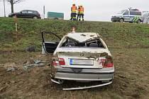 Nehoda mezi Zvolí a Libivou v neděli 22. prosince.