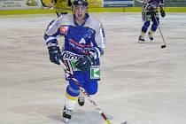Osm let starý snímek šumperského hokejisty Michala Budiny.