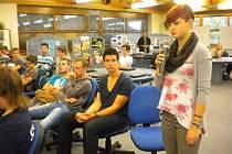 Studenti besedovali s hejtmanem jiřím Rozbořilem.