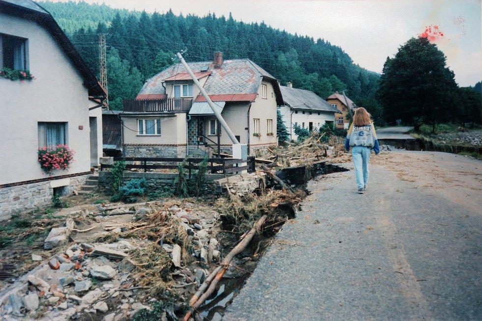 Následky povodní v Jindřichově - Nových Losinách.