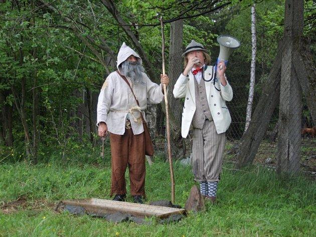 Odemykání mechových jezírek na Rejvízu v roce 2014.