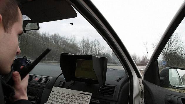 Policista během akce u Mohelnice