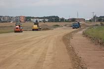 Postup prací na obchvatu Javorníku v srpnu 2011
