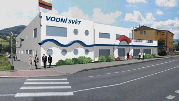 Vizualizace bazénu v České Vsi