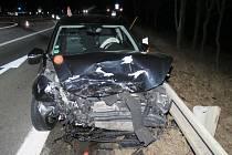Nehoda v Mohelnici 1. března 2017.