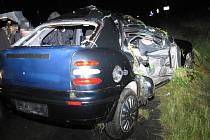 Snímky z tragické nehody u Dolních Studének.