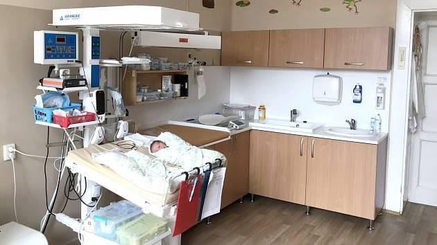 Novorozenecké oddělení Jesenické porodnice po rekonstrukci.