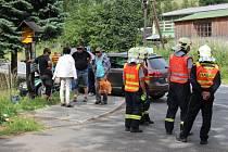 Dopravní nehoda v sobotu 11. července v Loučné nad Desnou.
