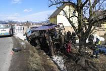 Nehoda Avie, která převážela koně, v Petrově nad Desnou