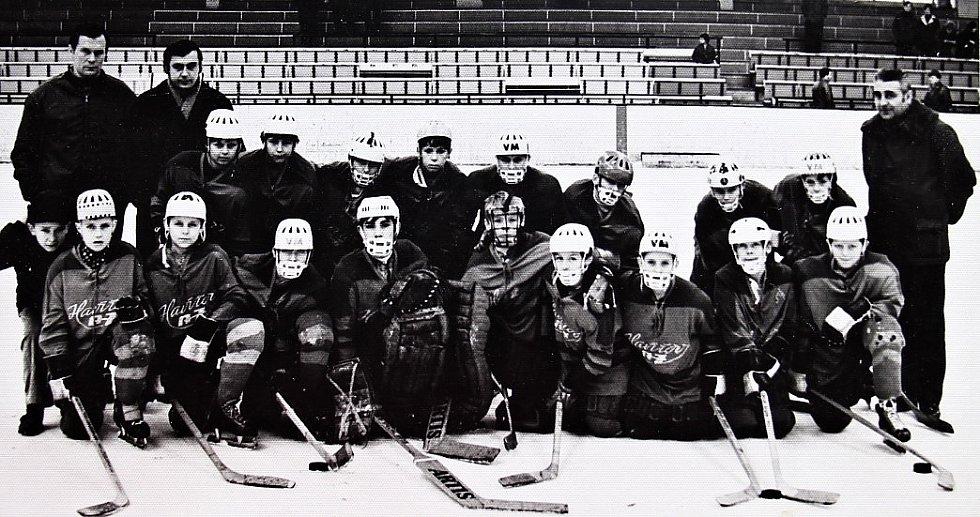 O štít únorového vítězství. První ročník turnaje mladších žáků v ledním hokeji 3.-5. března 1972, tým Havířov