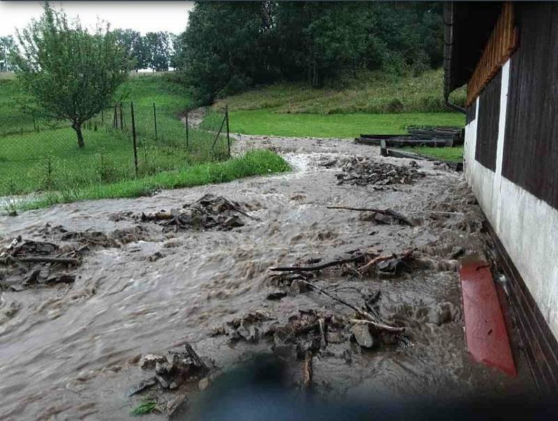 Řeka Bělá na Jesenicku překročila 3.povodňový stupeň