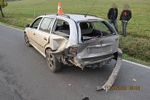 Tři dopravní nehody, jedno těžké zranění a škoda přesahující sto tisíc korun – tak to je bilance dopravní nehodovosti na Jesenicku za pátek 11. a sobotu 12. října.