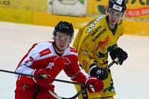 Denis Kindl (vlevo) a Michal Skoumal, spoluhráči z dob, kdy oba váleli za Mladé Draky.