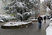 Šumperk zasypal v polovině dubna sníh.