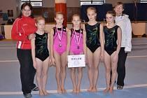 Sportovní gymnastky klubu GK Šumperk.