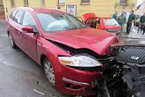 Nehoda v křižovatce mezi ulicemi B. Němcové a Vančurovou v Šumperku