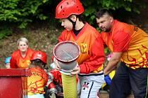 Finále soutěže okresu Šumperku v požárním útoku v Hrabišíně