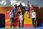 Šumperské gymnastky, kategorie starší žákyně a juniorky.