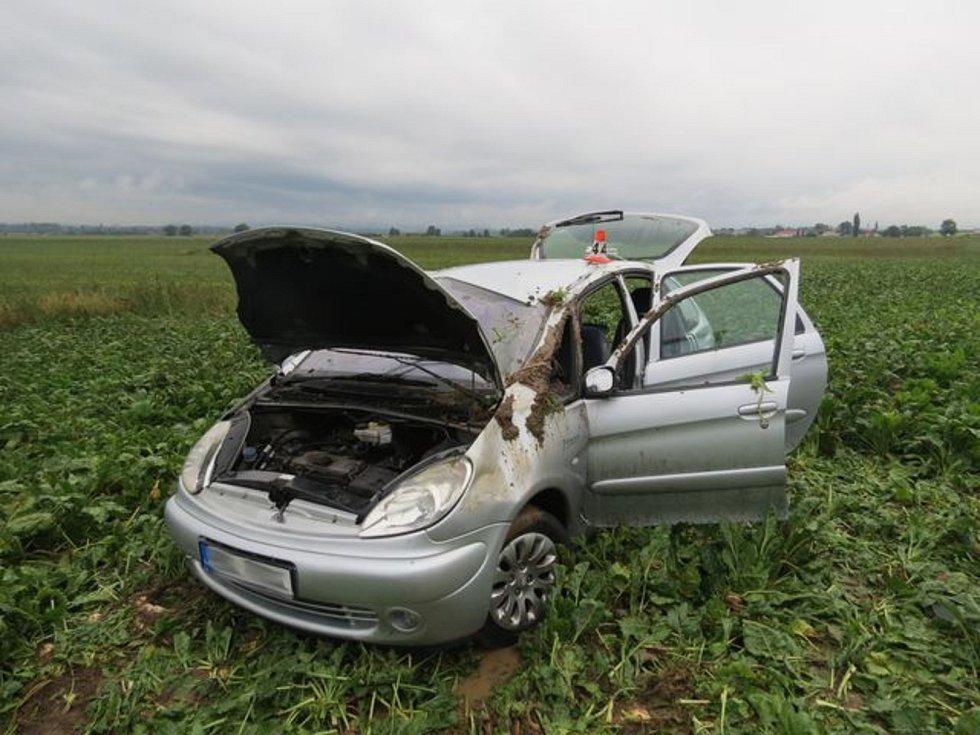 Dopravní nehoda u Libivé v pondělí 9. září