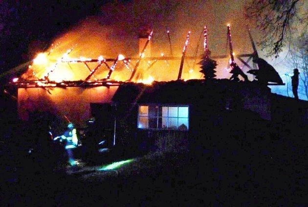 V Hanušovicích hořel rodinný dům.