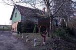 Rodinný dům ve Vyšehoří zničený požárem.
