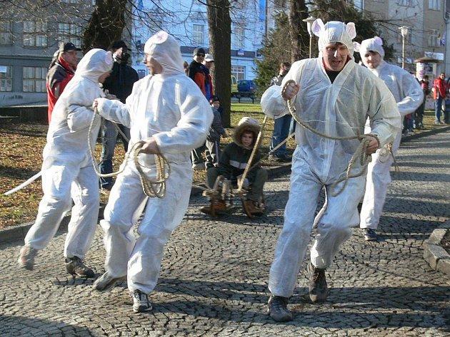 Takhle to vypadalo v Zábřehu při závodech čtyřspřeží v minulých letech