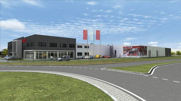 Zábřežská společnost MBG, která patří k předním výrobcům regálových systémů, staví ve svém areálu v Sadové ulici novou lakovnu. Na vizualizaci je to objekt vpravo.