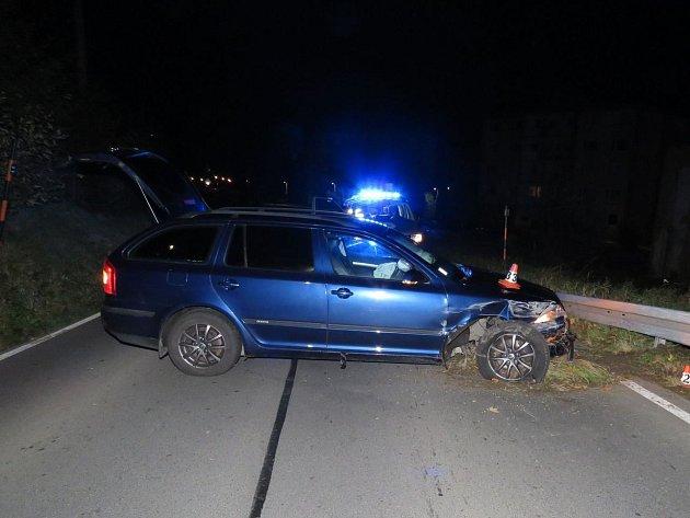 Nehoda vHanušovicích.
