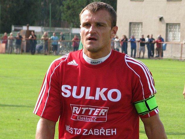 Petr Sedlák (na snímku z utkání v Uničově) bude v neděli Sulku chybět kvůli bolavým tříslům