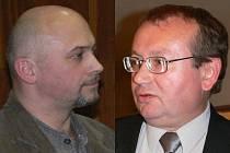 Petr Wolf (vlevo), mluvčí občanského sdružení Za zdravý Ráječek - Pavel Zubík, zastupitel ze Sdružení nezávislých kandidátů.