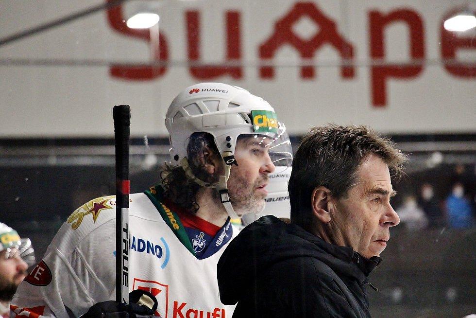 Šumperk proti Kladnu. Jaromír Jágr