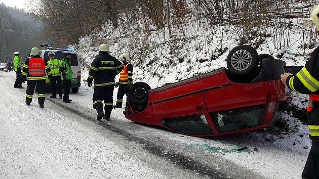 Nehody v uplynulém týdnu mezi Javorníkem a Travnou na Jesenicku.