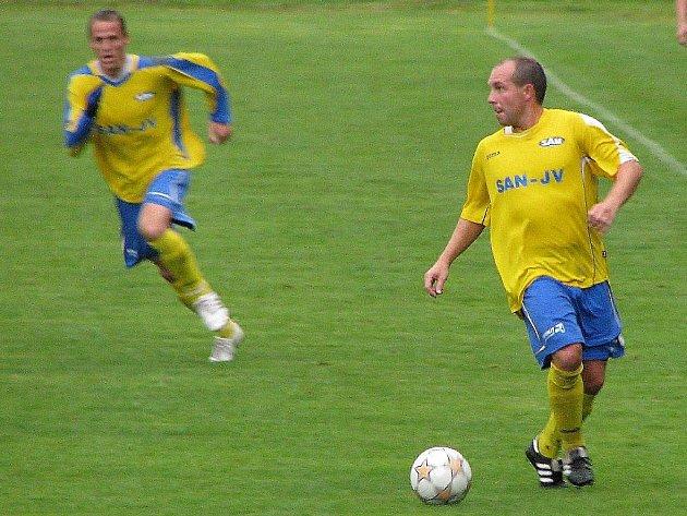 V pohárovém utkání se za Šumperk představí například Ivo Lošťák (smíčem)