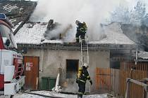 Požár dřevařské firmy v Mostkově
