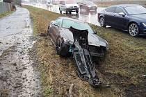 Nehoda fordu v Zábřehu. 23. 2. 2020