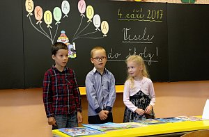 Žáci 1. tříd Brníčko, Rapotín a Údolí Desné