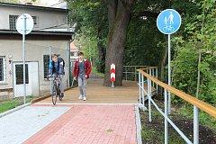 Nově otevřený úsek cyklostezky za plynárnou v Jeseníku