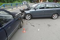 Nehoda na křižovatce mezi Zábřehem, Kosovem a Václavovem
