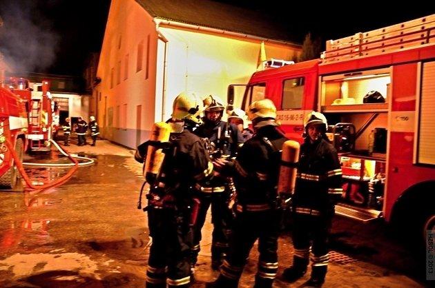 Požár v průmyslovém areálu v Žerotínově ulici v Šumperku